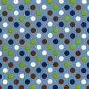 Tissu pois spot on denim