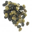 Lot de 100 strass tête de mort bronze
