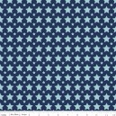 Tissu one for the boys stars blue x 10cm