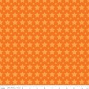 Tissu one for the boys stars orange x 10cm