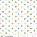 Tissu jungle dots white x 10cm