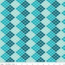 Tissu indie checkers blue x 10cm