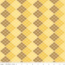 Tissu indie checkers yellow x 10cm