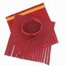 Kit grand pompon double cuir Rosso V2