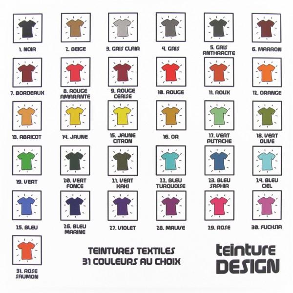 Teinture design textiles 31 couleurs au choix ma petite mercerie - Teinture textile blanc ...