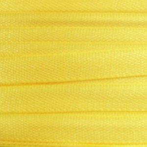 Ruban aspect soie jaune 4 mm